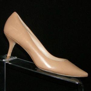 Via Spiga Gya nude leather pointed toe heels 7.5M